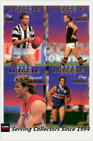 1995 Select AFL Trading Card Series 1 Tribute Card subset Full Set (4)