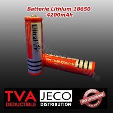 Pile Batterie 18650 3.7v rechargeable chargeur accu Li-ion torche cigarette MOD