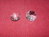 une Pampille octogonale de lustre ancien en cristal de bohème 24 mm 424018B