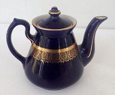 ESTATE ITEM-VINTAGE HALL PHILADELPHIA COBALT & GOLD DECORATION BLUE TEAPOT 6 CUP
