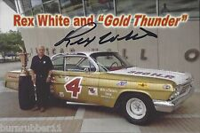 "SIGNED 2015 REX WHITE ""GOLD THUNDER W/TROPHY"" #4 NASCAR HALL OF FAME POSTCARD"