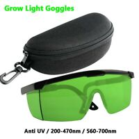 LED Eyes Safe Indoor Growing Hydroponics Grow Light Room Glasses for HPS MH