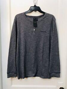 Ted Baker London henley long sleeve button up  cotton blend men's shirt NWT sz M