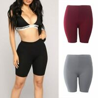 Half High Waist Quick Dry Shorts For Women Fitness Skinny Bike Shorts For Ladies