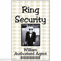 Photo ID Card for Wedding Ring Security. Childs ID Badge with Free Clip.