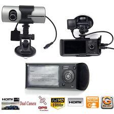 2.7'' 1080P Car DVR Camera Recorder Dash Cam G-Sensor GPS Dual Len Camera Silver