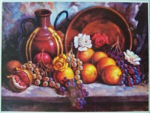 Still Life With Fruit Manuel Parreno Painting 1000 piece Jigsaw Puzzle