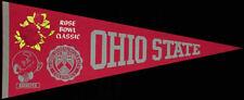 Ohio State Buckeyes **RARE** Original 1969 Rose Bowl Pennant NCAA Champions VTG