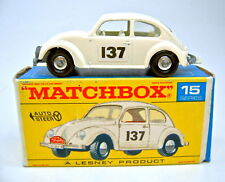 "Matchbox RW 15D VW 1500 Käfer creme top in ""F"" Box"
