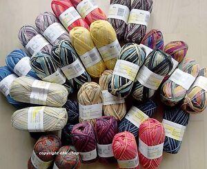 1000g (100g/3,99€) bunt gemischte Sockenwolle, Wollpaket, Garnpakete-Sets NEU