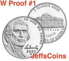 2020 W Jefferson Nickel West Point Strike Us Mint Proof Set Nickle 5¢ New 1 of 3