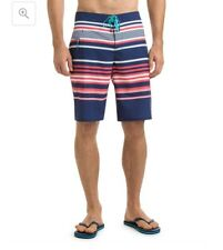 VINEYARD VINES Performance Mens 42 Boardshort Blue Americana Stripe Swim Trunks