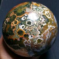 2680G Natural Colorful RARE Polished Ocean Jasper Crystal BALL Madagascar 1493+