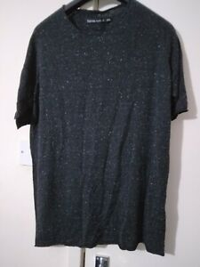hannes roether black and white dots top Size L New with Tags