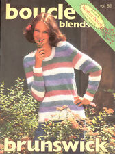 Boucle Blends Knitting Crochet Pattern Booklet Brunswick 813