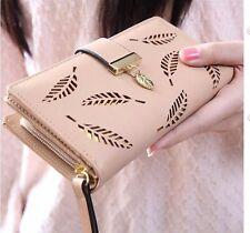 2016 Cute Fashion Women's Girls Long Purse Wallets Spring Handbag Bifold Beige