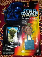 Star Wars Yoda The Power of the Force POTF Red Card Kenner 1995