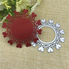 Metal Cutting Dies Love Heart Round Stencils Making Decorative Embossing Cards