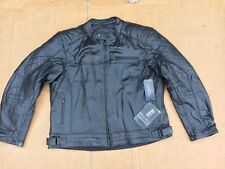 "RK Sports Mens Leather Motorcycle / Motorbike Jacket UK 50"" to 52"" chest (J38)"