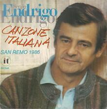 DISCO 45 Giri  Sergio Endrigo - Canzone Italiana / Le Ragazze