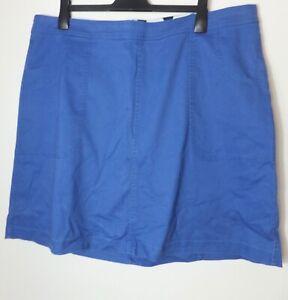 New Women's Boden Light Blue High Waist Denim Skirt W Pockets Size UK 22L