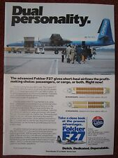 11/1982 PUB FOKKER F27 REGIONAL AIRLINER CITYHOPPER AIRCRAFT OMAN AVIATION AD