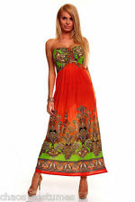 Sexy Maxi Dress Style Fashion Designer Flowing Cocktail Beach Sun Dress 8 10 12