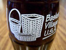 Basket Village U.S.A Dresden, OHIO 1994, 1 - 8 Oz Coke Bottle