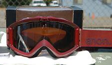 2012 NIB ANON FIGMENT SNOWBOARD GOGGLES $75 crimson/ Silver Amber Lens