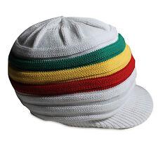 Reggae Rasta Roots Africa Rastafari Jamaica Marley White Hat Hippie Crown S/M