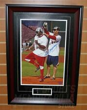 Tim Wakefield Boston Red Sox autographed Signed Champagne on Ortiz framed 12x18