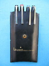 LAURIN - LOT VINTAGE BALLPOINT PENS SET W/ ORG. CASE ! MADE IN GERMANY. UNIQUE.