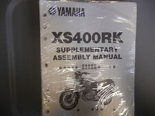 NOS Yamaha Factory Assembly Manual Supplement 1983 XS400RK XS400 RK