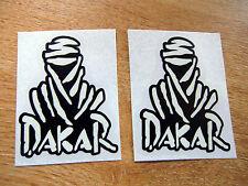 2x  DAKAR stickers black + white 75mm decals - paris - dakar rally logo