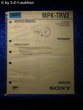 Sony Service Manual MPK TRV2 Marine Pack (#5941)