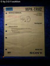 Sony Service Manual MPK TRV2 Marine Pack (#5941)