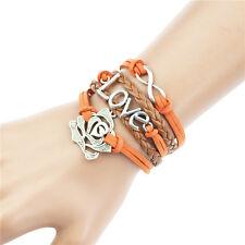 Friendship Valentine Gift Multilayer Colorful Fashion Leather Charm Bracelet