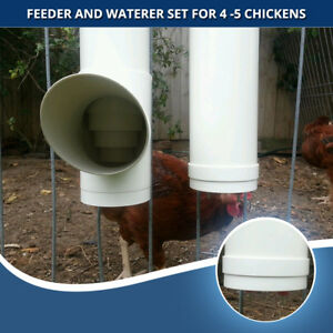 Hanging Chicken Feeders and Watererswith 2x Nipple Outlets Suits up to 5 Chooks
