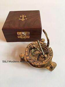 "Sundial Compass Vintage Brass Nautical 4"" Marine Compasses Steampunk Retro Old"