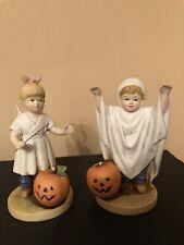 Home Interiors 1985 Denim Days #1516 Halloween Fun Danny Debbie Figurines
