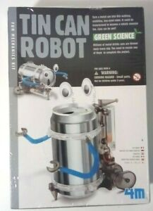 Tin Can Robot- Fun Mechanics Kit 4M Green Science New In Package