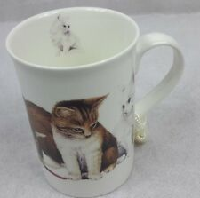 Cat's & More Cat's 9 oz Mug Coffee / Tea Cup with Tassel and Decorative Gift Box