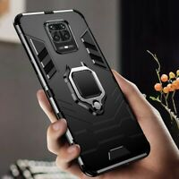For Xiaomi Redmi Note 9 Pro 9S 8 9A Armor Rugged Magnetic Ring Holder Hard Case