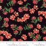 MODA Fabric ~ WILDFLOWERS VIII ~ by Moda (33222 19) Black - by the 1/2 yd