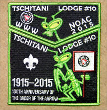 Oa #10 Tschitani 2015 Noac Set - Praying Mantis - 100th Ann of Oa
