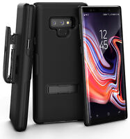 For Encased Samsung Galaxy Note 9 Belt Clip Case with Slim Kickstand Combo Black