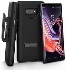 Encased Samsung Galaxy Note 9 Belt Clip Case with Slim Kickstand Combo Black
