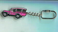 Pink Jeep Tours Metal key ring chain