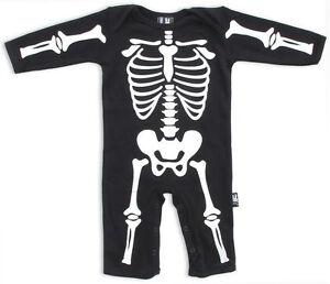 Strampler Skelett Playsuit Skeleton schwarz black Babys Six Bunnies 183001