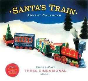 CASPARI - Christmas Advent Calendar - 3 Dimensional Pop-Up Santa's Train